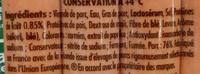 4 Knacki fumée - Ingredients - fr