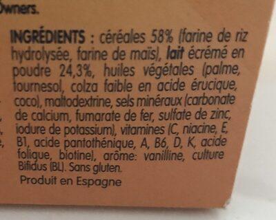 Cerelac - Ingredients