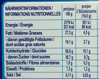 Chocolat Smarties - Nutrition facts