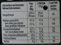 of Switzerland PERLE NOIR Chocolat noir fourrré à la crème chocolat noir - Ingredients