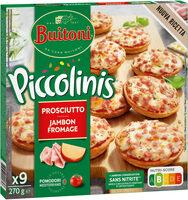BUITONI PICCOLINIS mini-pizzas surgelées Jambon Fromage 9x30g ( - Produit - fr