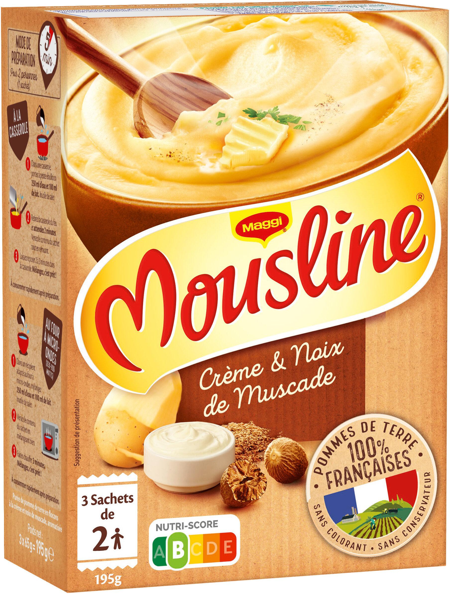 MOUSLINE Purée Crème Muscade (3x65g) - Produit - fr