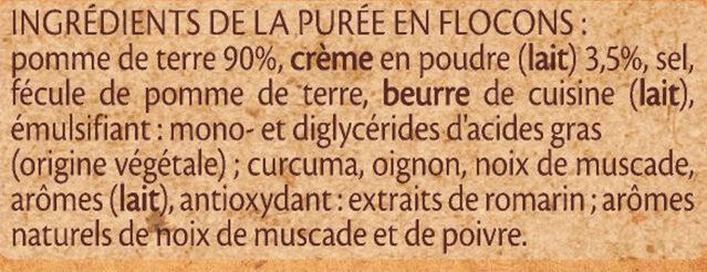 MOUSLINE Purée Crème Muscade (3x65g) - Ingrédients - fr