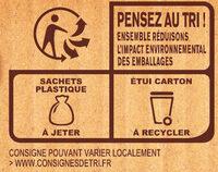 MOUSLINE Purée Crème Muscade (3x65g) - Instruction de recyclage et/ou informations d'emballage - fr