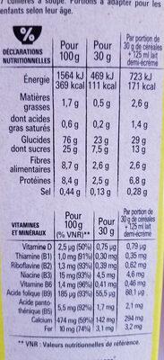 NESQUIK Céréales Petit Déjeuner - Información nutricional - fr