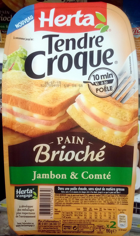 Croque Monsieur A La Poele tendre croque pain brioché jambon & comté - herta - 190 g