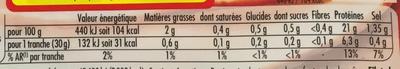 Le Bon Poulet -25% de Sel - Informations nutritionnelles - fr
