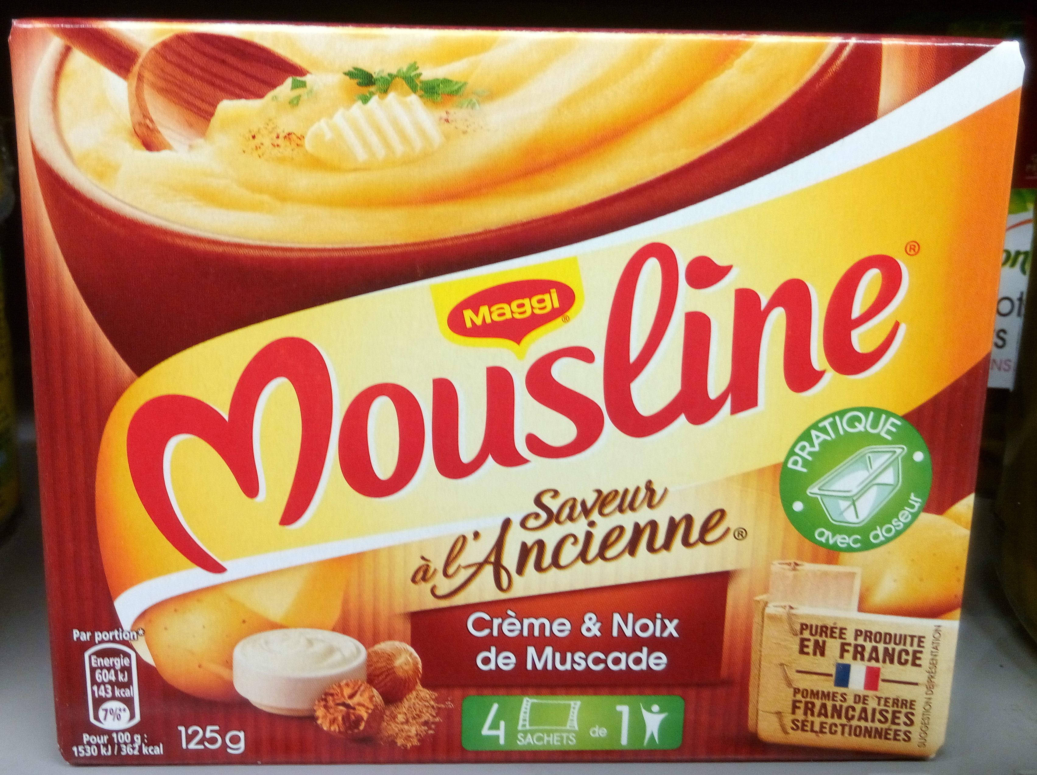 Mousline saveur l 39 ancienne cr me noix de muscade for Noix de muscade cuisine