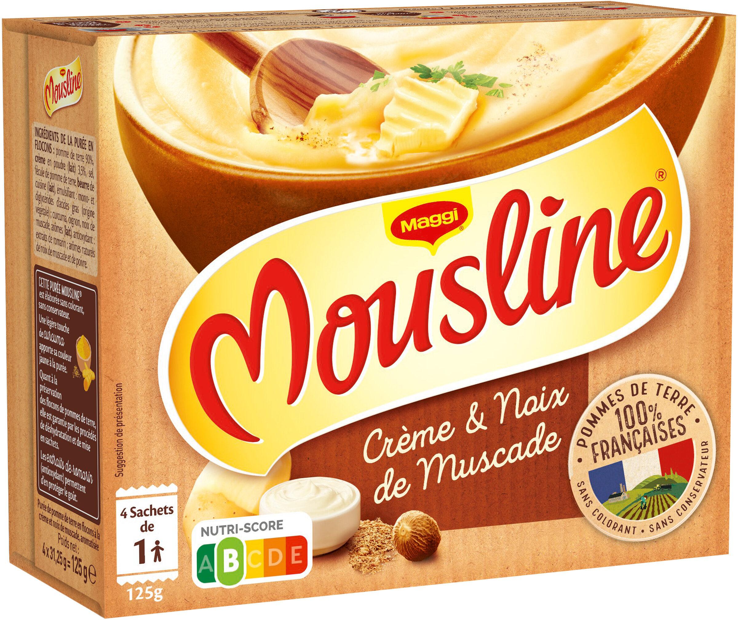 MOUSLINE Purée Crème Muscade Format Individuel (4x31,25g) - Product - fr