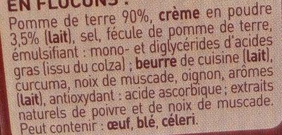 Mousline Saveur à l'Ancienne Crème & Noix de Muscade - Ingredients