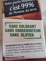 Mousline - Ingredients