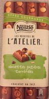 Chocolat au lait noisettes entières torréfiées - Produit - fr