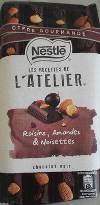Les Recettes de l'Atelier Raisins, Amandes & Noisettes Chocolat Noir (Offre Gourmande) - Prodotto - fr