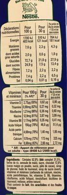 Crunch - Información nutricional