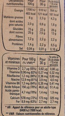 crunch - Informations nutritionnelles