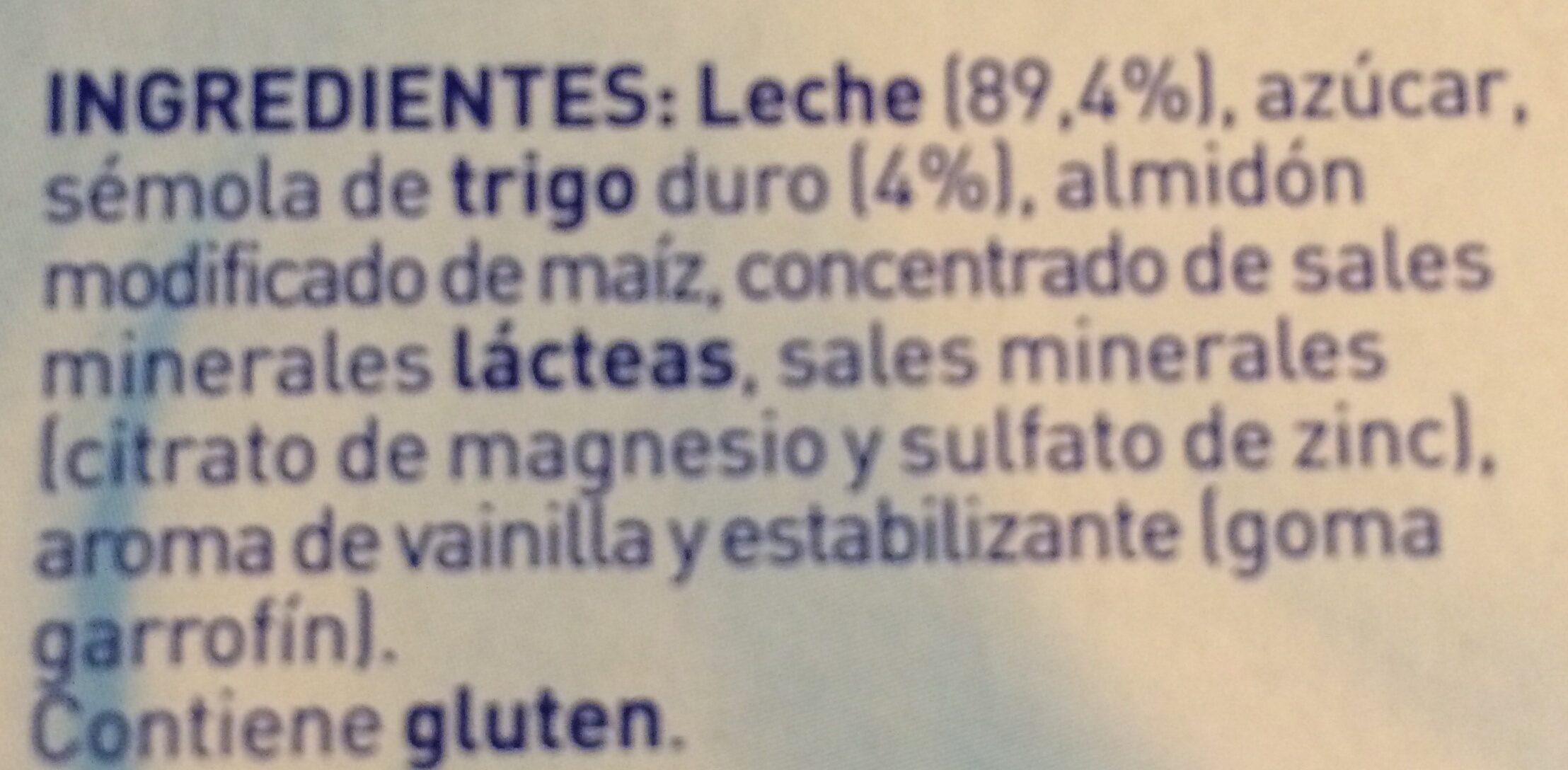 Nestlé Iogolino Mini Natillas - Ingredients - es