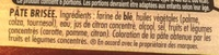 Pâte brisée Trésor de Grand-Mère - Inhaltsstoffe - fr