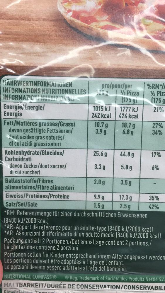 Pizza La Fina Diavola Picante - Nutrition facts
