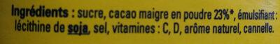 Nesquik - Ingredienti - fr