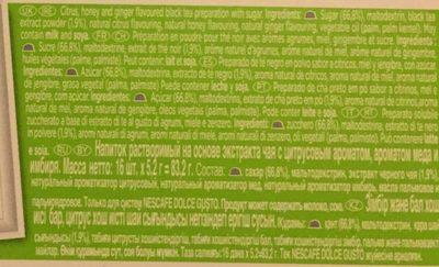 Dosette Nestle Nescafé Tea Citrus Honey - Ingredients