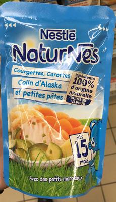NaturNes Courgettes, Carottes, Colin d'Alaska et petites pâtes - Product