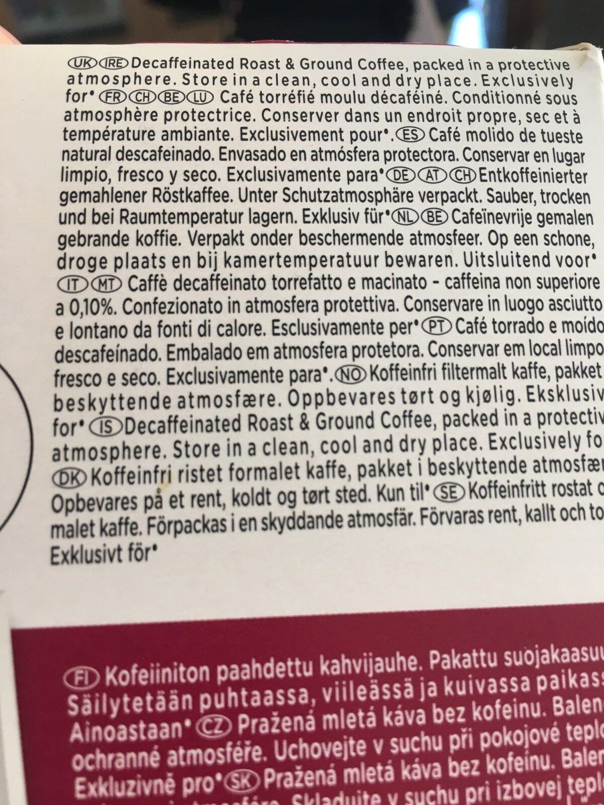 Capsules NESCAFE Dolce Gusto Espresso Decaffeinato 16 Capsules - Ingredienti - fr
