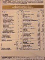 Beba AR - Voedingswaarden - fr