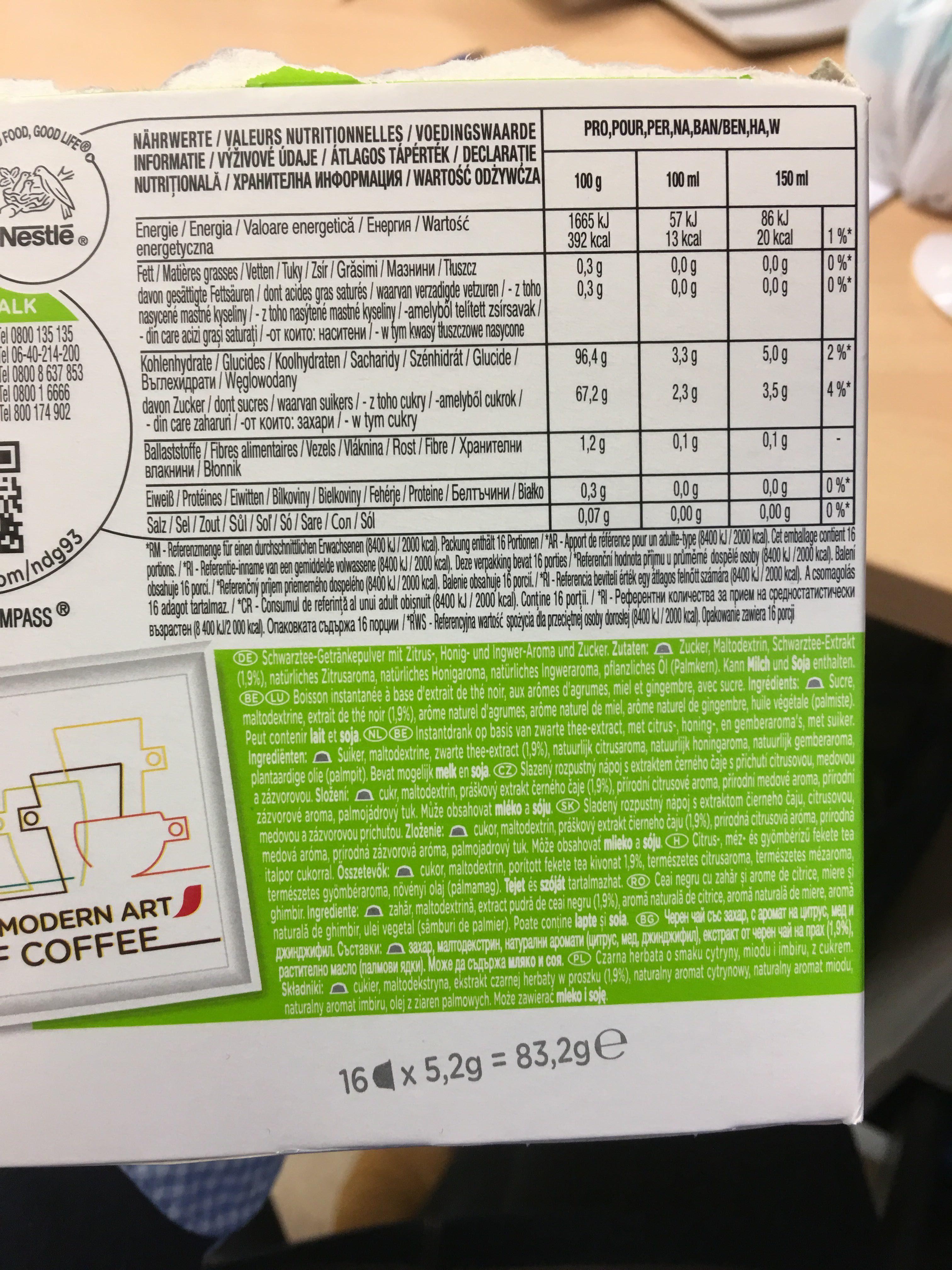 Dolce Gusto Citrus Honey Black Tea - Product