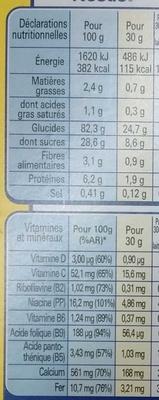 Nesquik sans gluten - Nutrition facts