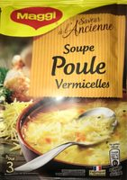 Soupe poule vermicelles petits légumes déshydratée 0,065g, 1 litre - Product