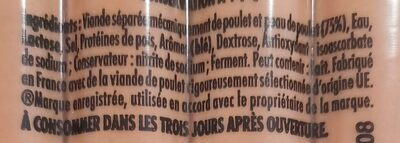 Knacki 100% poulet - Ingrediënten - fr