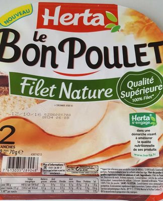 Le Bon Poulet Filet Nature - Produit - fr