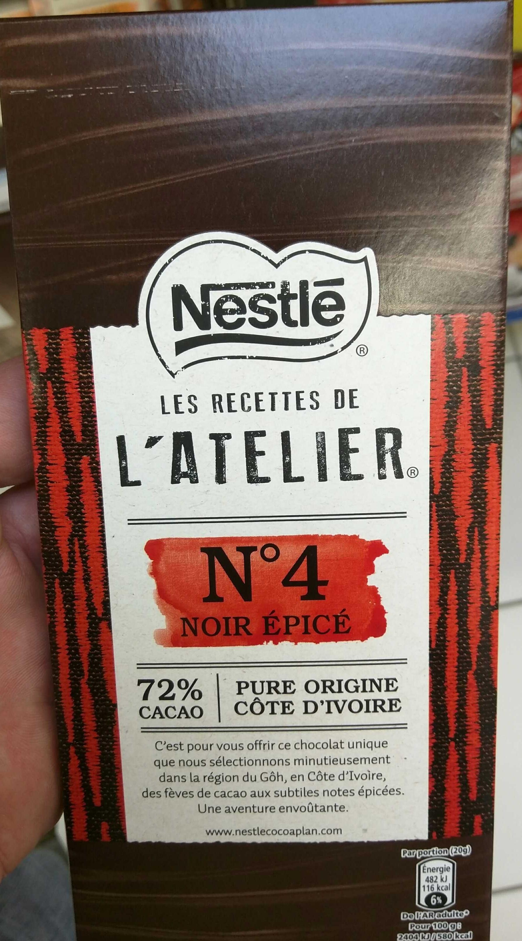 Recettes de l'Atelier N°4 Noir Epicé - Product - fr