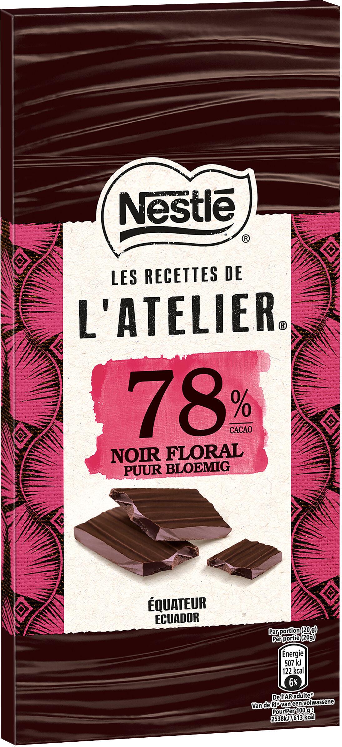 NESTLE L'ATELIER Chocolat noir 78% Floral - Prodotto - fr