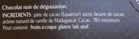 NESTLE L'ATELIER Chocolat noir 78% Floral - Ingredienti - fr