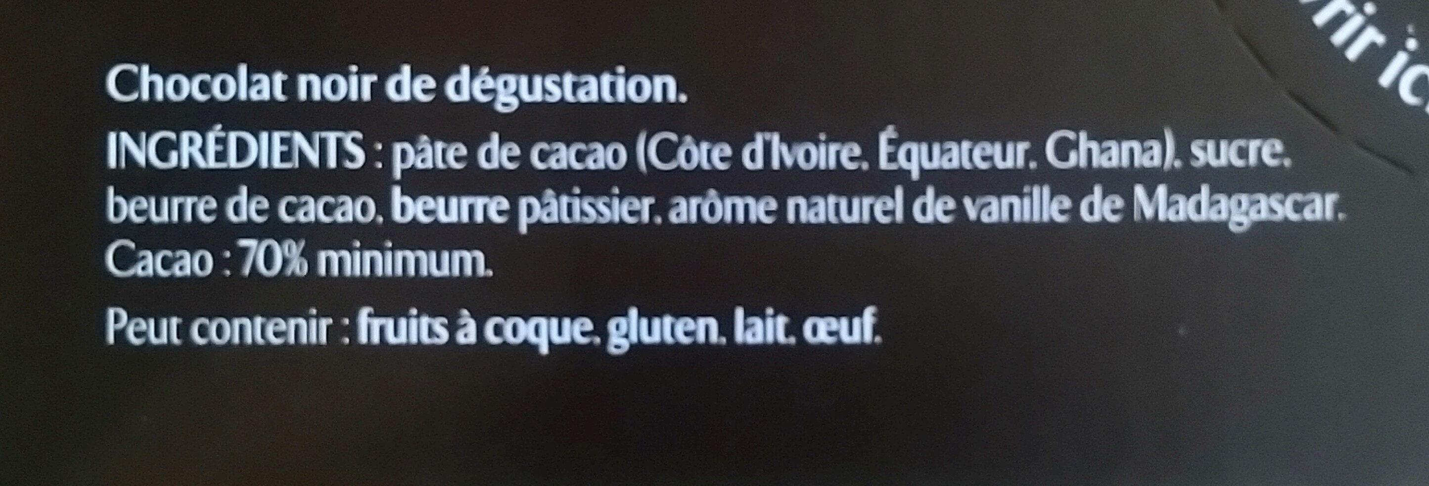 Noir fruité 70% cacao - Ingredients