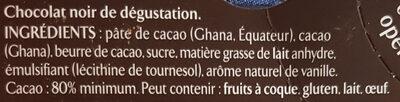 Recette n°2 Noir corsé - Ingredients