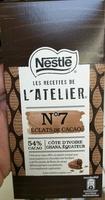 Les Recettes de l'Atelier - Chocolat noir de dégustation aux éclats de fèves de cacao caramélisés - Product - fr