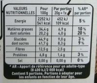 Recettes de l'Atelier N°7 Eclats de Cacao - Nutrition facts - fr