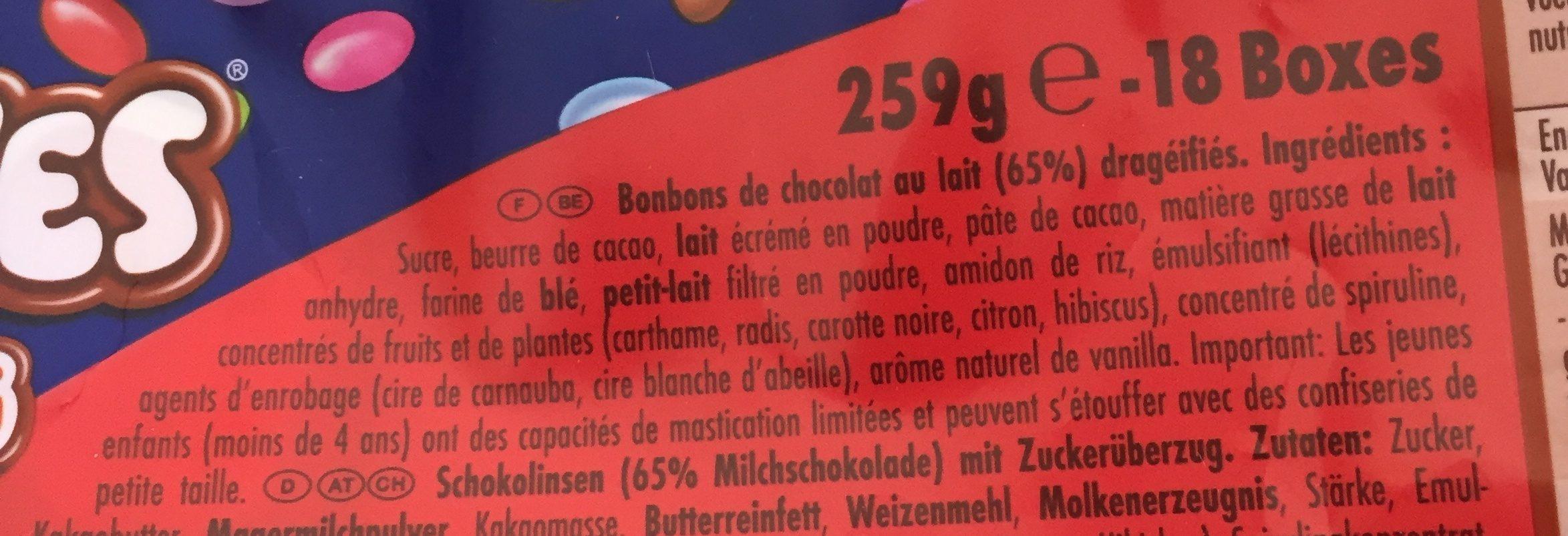 Smarties Mini - Ingredients - fr
