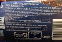 Bûche feuilles craquantes chocolat vanille 1 l - Ingredients - fr