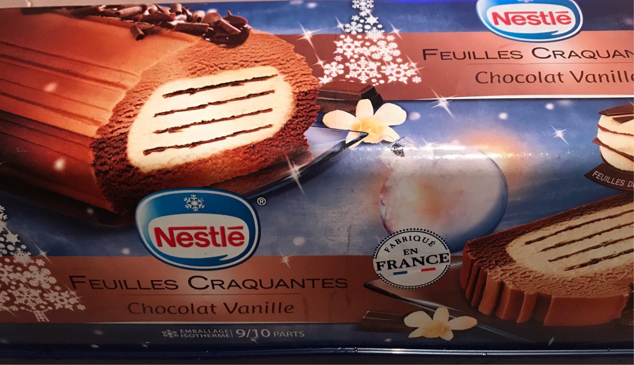 Bûche feuilles craquantes chocolat vanille 1 l - Nutrition facts - fr