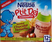 P'tit Dej Croissance Saveur Chocolat Noisette - Produit