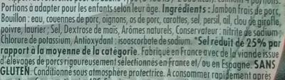Le Bon Paris -25% de sel - Ingredients