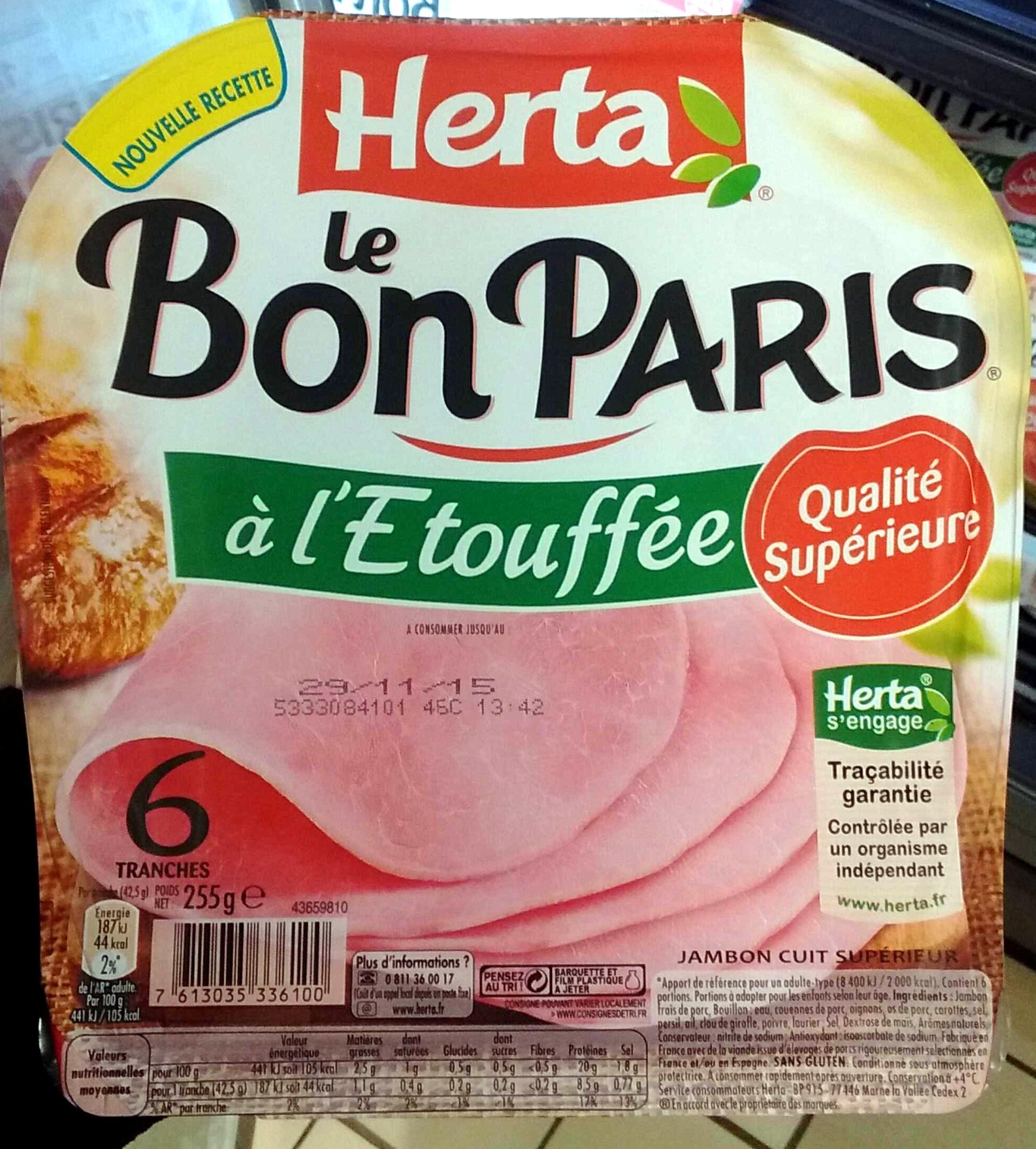 Le Bon Paris A L Etouffee Herta 255 G