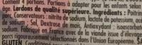 Lardons nature - Ingredienti - fr