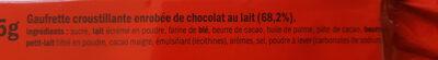 Kit Kat - Ingredients - fr