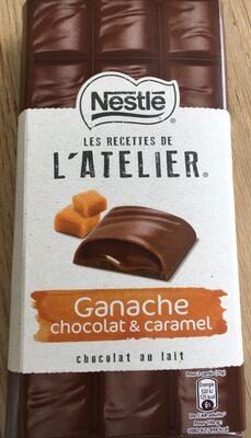 Les Recettes de l'Atelier - Chocolat au Lait Ganache Chocolat et Caramel - Produit - fr