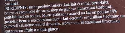 Les Recettes de l'Atelier - Chocolat au Lait Ganache Chocolat et Caramel - Ingrédients - fr