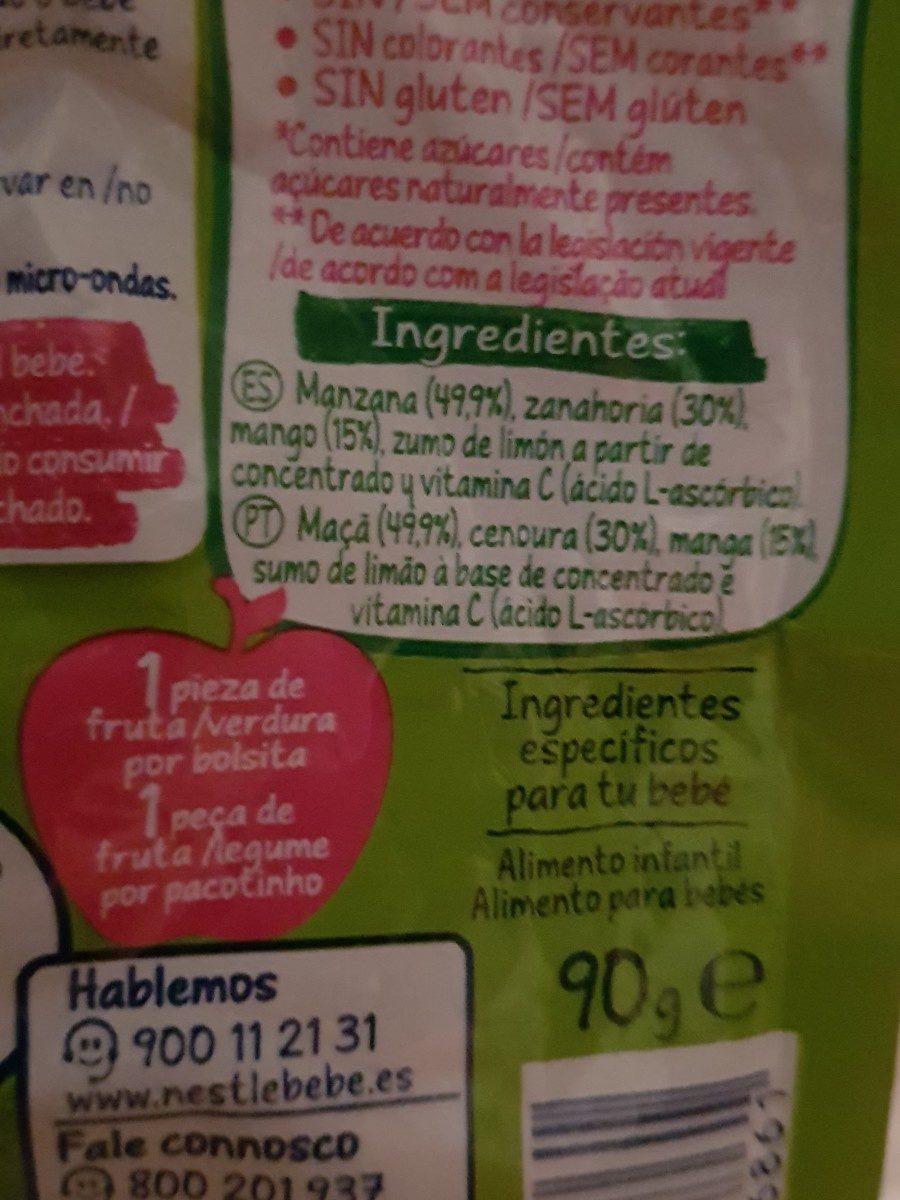 Compote naturenes bébé - Ingredienti - fr